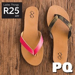 Shoes offers in the PQ Clothing catalogue in Klerksdorp