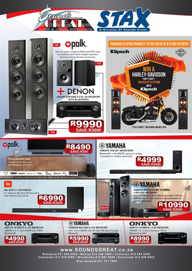 Sounds Great in Alberton | Weekly Specials & Catalogues