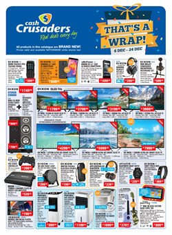 Electronics & Home Appliances offers in the Cash Crusaders catalogue in Cape Town