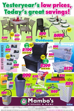 Mambo's Plastics Warehouse deals in the Cape Town special