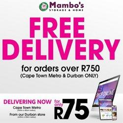 Mambo's Plastics Warehouse catalogue ( Expires tomorrow)