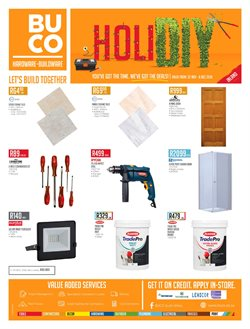 Electricals & Home Appliances offers in the BUCO catalogue in Cape Town