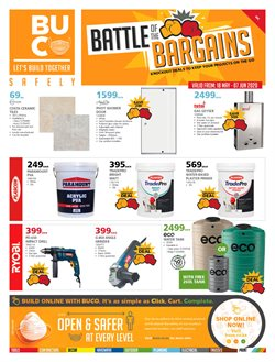 Paint specials in BUCO