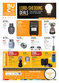 Electronics & Home Appliances offers in the BUCO catalogue in Cape Town ( More than a month )