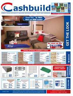 Cashbuild deals in the King William's Town special