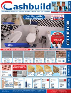 DIY & Garden offers in the Cashbuild catalogue in Krugersdorp ( 15 days left )