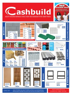DIY & Garden offers in the Cashbuild catalogue in Cape Town ( 17 days left )