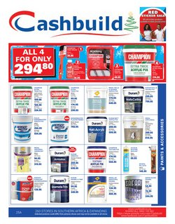 DIY & Garden offers in the Cashbuild catalogue ( More than a month)