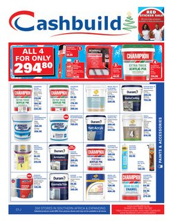DIY & Garden offers in the Cashbuild catalogue in Roodepoort ( 9 days left )