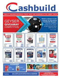 DIY & Garden offers in the Cashbuild catalogue ( 28 days left)