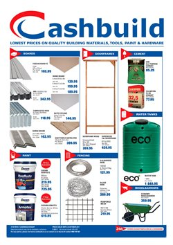 DIY & Garden offers in the Cashbuild catalogue in Klerksdorp