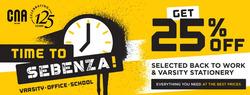 CNA coupon in Port Elizabeth ( Expires today )