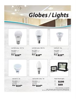 Lamp offers in the Gelmar catalogue in Cape Town