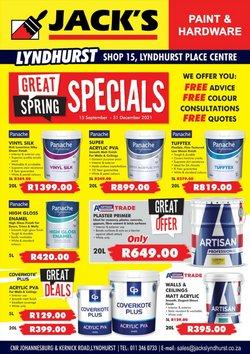 Jack's Paint offers in the Jack's Paint catalogue ( More than a month)