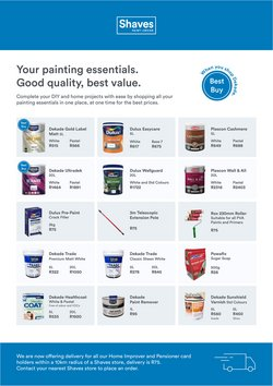 Shaves Paint And Decor catalogue ( 16 days left )