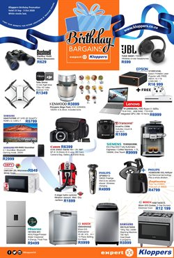 Groceries offers in the Kloppers catalogue in Bloemfontein ( 7 days left )