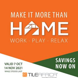 Tile Africa offers in the Tile Africa catalogue ( 19 days left)