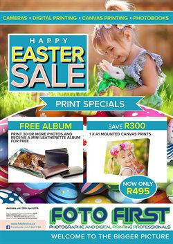 Canvas offers in the Foto First catalogue in Cape Town