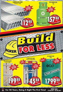 Boxer Build deals in the Port St Johns special