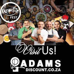 Adams Discount Centre deals in the Johannesburg special
