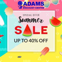 Adams Discount Centre catalogue ( Expired )
