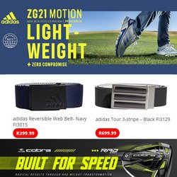 Adidas offers in the The Golfers Club catalogue ( 5 days left)