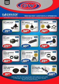 Cars, motorcycles & spares offers in the Goldwagen catalogue in Cape Town