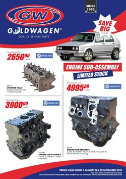 Goldwagen deals in the Cape Town special