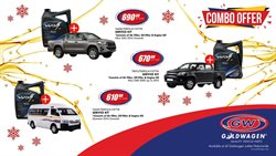 Cars, Motorcycles & Spares offers in the Goldwagen catalogue in Pretoria ( 16 days left )