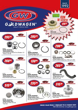 Cars, Motorcycles & Spares offers in the Goldwagen catalogue in Polokwane ( More than a month )