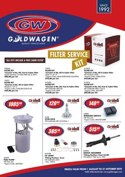 Cars, Motorcycles & Spares offers in the Goldwagen catalogue ( More than a month)