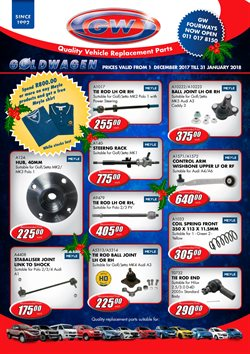 Christmas offers in the Goldwagen catalogue in Cape Town