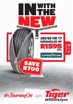Tiger Wheel & Tyre deals in the Johannesburg special
