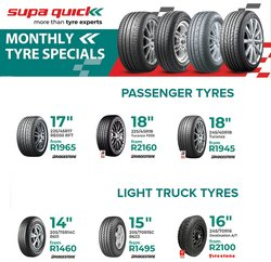 Cars, Motorcycles & Spares offers in the Supa Quick catalogue ( 5 days left)