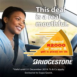 Bridgestone deals in the Port Elizabeth special