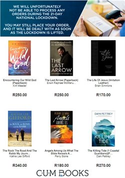 Books & Stationery offers in the CUM Books catalogue in Pretoria ( 19 days left )