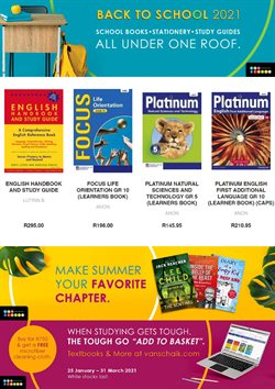 Books & Stationery offers in the Van Schaik catalogue in Cape Town ( 19 days left )