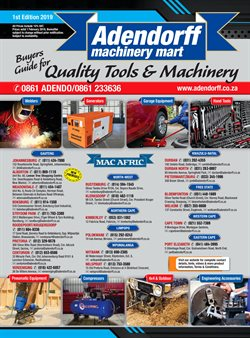 Adendorff Machinery Mart deals in the Randburg special