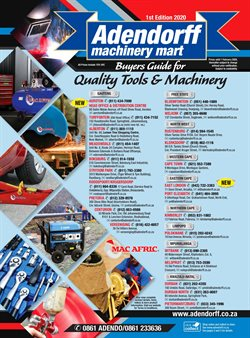 Adendorff Machinery Mart catalogue ( More than a month )