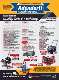 Adendorff Machinery Mart offers in the Adendorff Machinery Mart catalogue ( Expired)