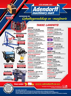 Adendorff Machinery Mart offers in the Adendorff Machinery Mart catalogue ( More than a month)