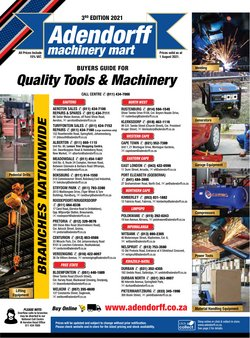 Adendorff Machinery Mart offers in the Adendorff Machinery Mart catalogue ( 10 days left)