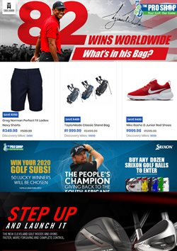 The Pro Shop deals in the Johannesburg special