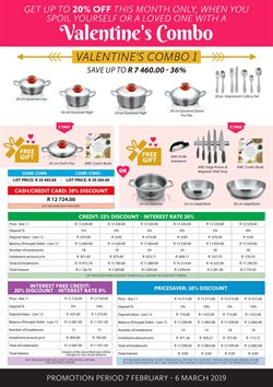 Valentine's Day offers in the AMC Cookware catalogue in Cape Town