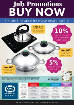 AMC Cookware deals in the Johannesburg special