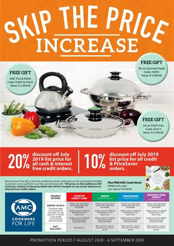 AMC Cookware in Pietermaritzburg | Weekly Specials & Catalogues
