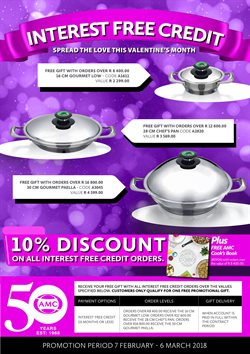 Electricals & Home Appliances offers in the AMC Cookware catalogue in Johannesburg