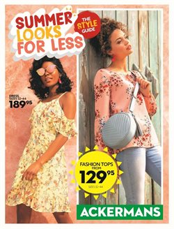 Clothes, shoes & accessories offers in the Ackermans catalogue in Rustenburg
