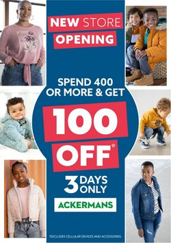 Clothes, Shoes & Accessories offers in the Ackermans catalogue ( 3 days left)