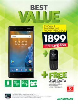 Phones offers in the Ackermans catalogue in Cape Town